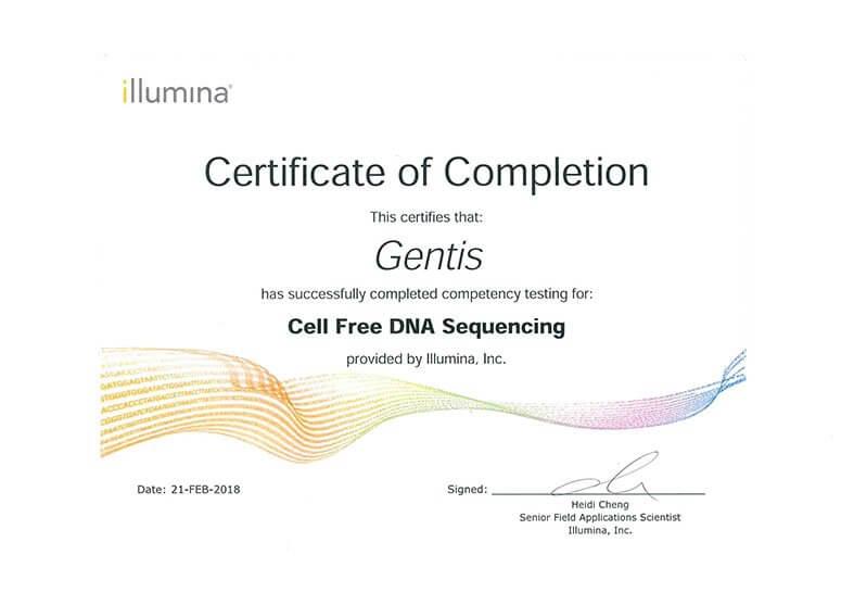 GENTIS là đơn vị đầu tiên ở Việt Nam được illumina – Mỹ chuyển giao công nghệ phân tích cfDNA