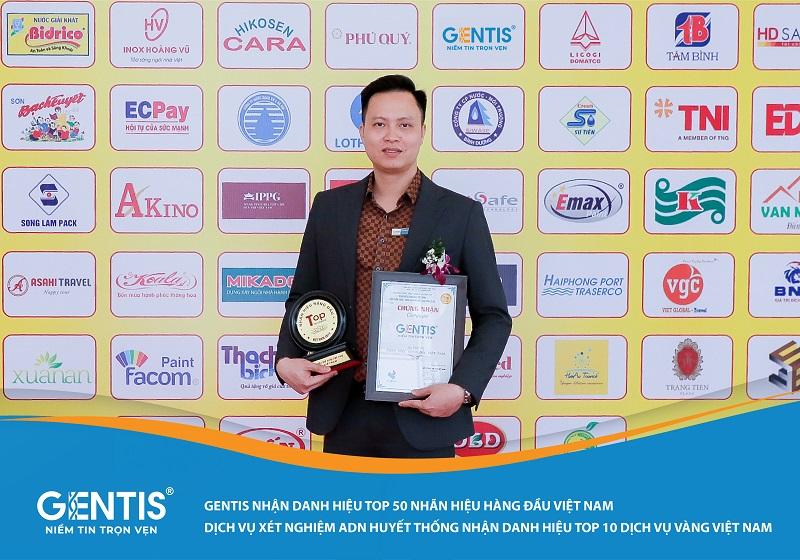 GENTIS được trao danh hiệu TOP 50 NHÃN HIỆU HÀNG ĐẦU VIỆT NAM